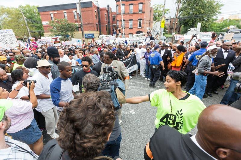 ΝΕΑ ΥΌΡΚΗ, ΗΠΑ - 23 ΑΥΓΟΎΣΤΟΥ 2014: Χιλιάδες Μάρτιος σε Staten Islan στοκ φωτογραφίες