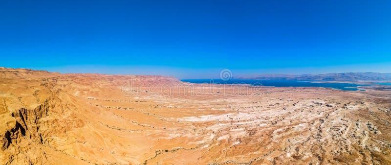 Νεκρή άποψη θάλασσας από Masada στοκ φωτογραφία
