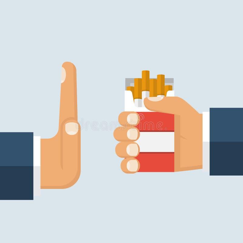 νεκρή απαγόρευση του καπνίσματος απόρριμα απεικόνιση αποθεμάτων
