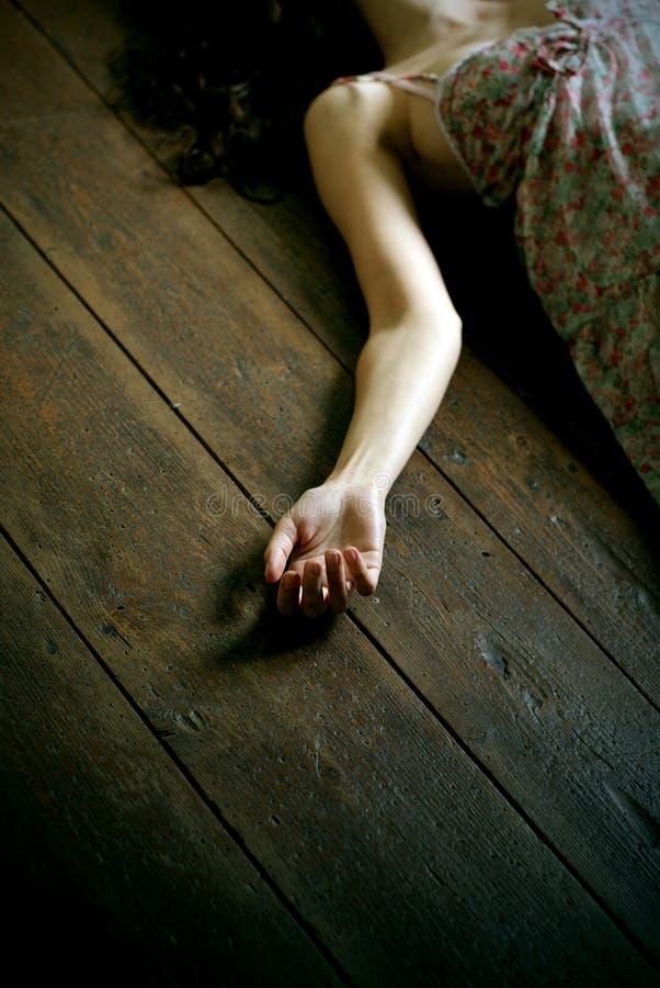 νεκρή γυναίκα στοκ εικόνες
