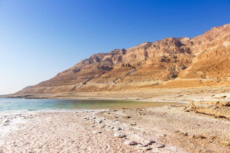 Νεκρή διαστημική φύση αντιγράφων τοπίων του Ισραήλ θάλασσας copyspace στοκ εικόνες