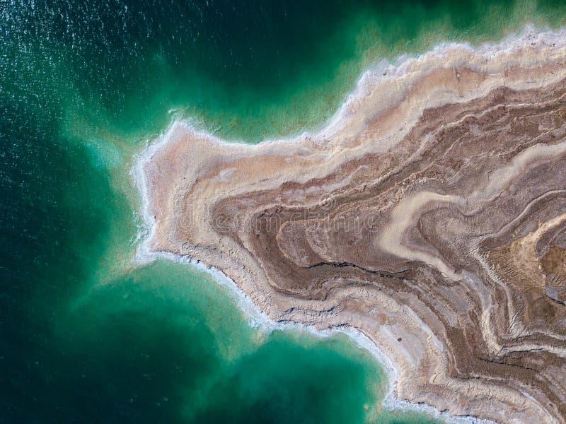 Νεκρή θάλασσα από ανωτέρω στοκ εικόνες