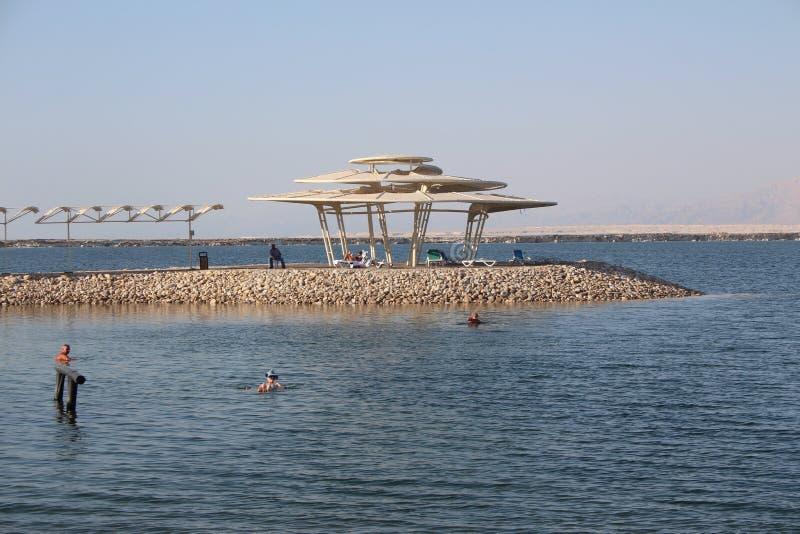 Νεκρή θάλασσα στο Ισραήλ - Ein Bokek στοκ φωτογραφίες