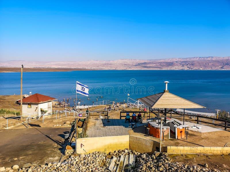 Νεκρή παραλία θάλασσας στο Ισραήλ στοκ εικόνα με δικαίωμα ελεύθερης χρήσης