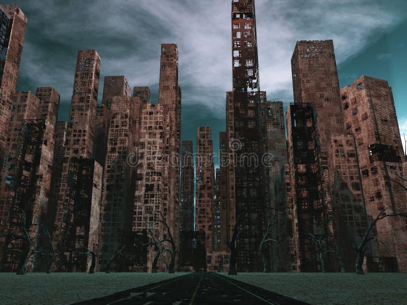 Νεκρή πόλη ελεύθερη απεικόνιση δικαιώματος