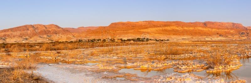 Νεκρή φύση τοπίων πρωινού ανατολής του Ισραήλ πανοράματος θάλασσας στοκ φωτογραφίες με δικαίωμα ελεύθερης χρήσης