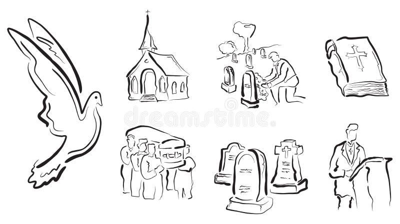 νεκρικά θρησκευτικά δια& απεικόνιση αποθεμάτων