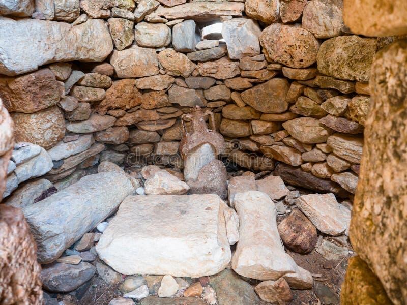 Νεκρομαντία Poseidon στο ακρωτήριο Matapan, Ελλάδα στοκ εικόνα με δικαίωμα ελεύθερης χρήσης