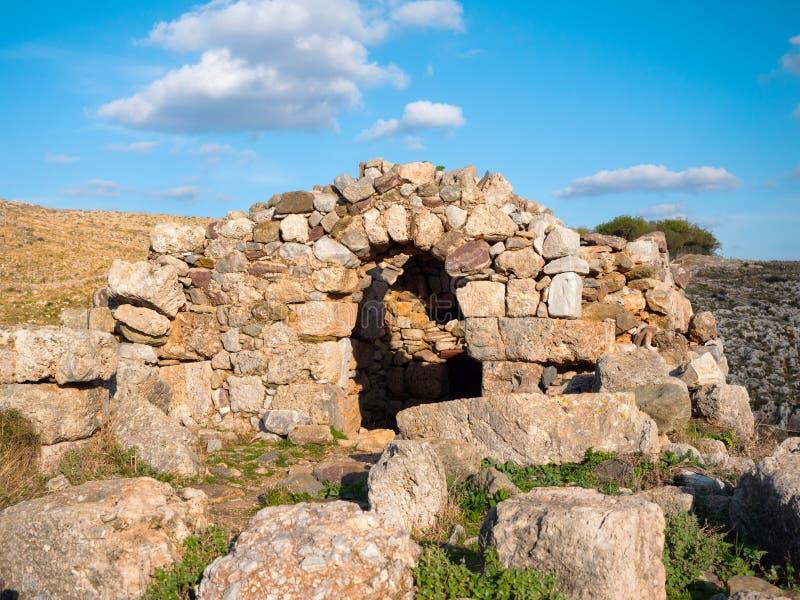Νεκρομαντία Poseidon στο ακρωτήριο Matapan, Ελλάδα στοκ φωτογραφία με δικαίωμα ελεύθερης χρήσης