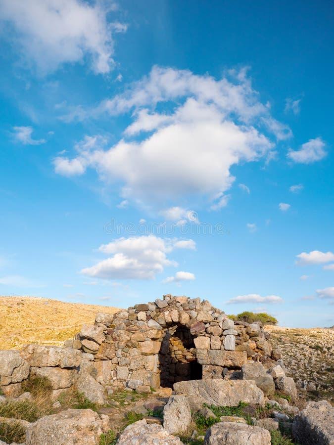 Νεκρομαντία Poseidon στο ακρωτήριο Matapan, Ελλάδα στοκ φωτογραφίες με δικαίωμα ελεύθερης χρήσης