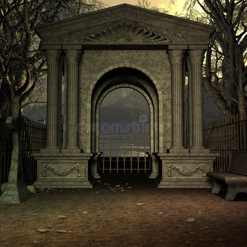 νεκροταφείο απόκρυφο απεικόνιση αποθεμάτων