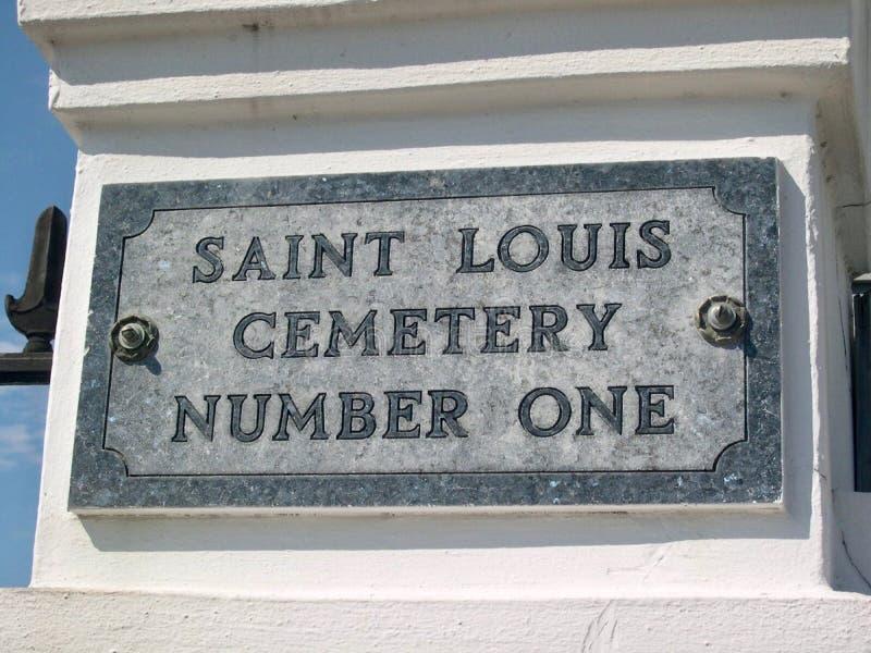 Νεκροταφείο αριθμός ένα, Νέα Ορλεάνη, Louisana του Saint-Louis στοκ φωτογραφίες με δικαίωμα ελεύθερης χρήσης