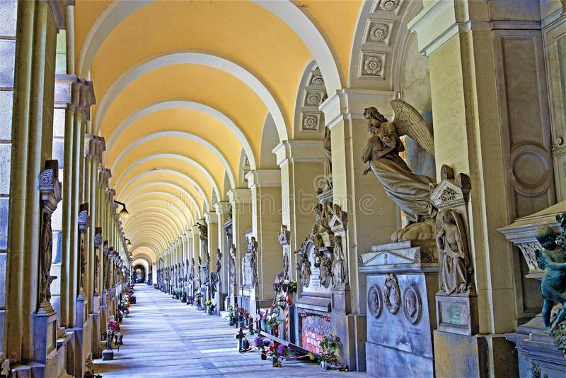 Νεκροταφείο 1, Γένοβα, Λιγυρία, Ιταλία της Γένοβας στοκ φωτογραφίες με δικαίωμα ελεύθερης χρήσης