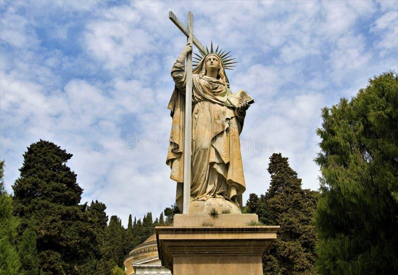 Νεκροταφείο 8, Γένοβα, Λιγυρία, Ιταλία της Γένοβας στοκ φωτογραφία με δικαίωμα ελεύθερης χρήσης