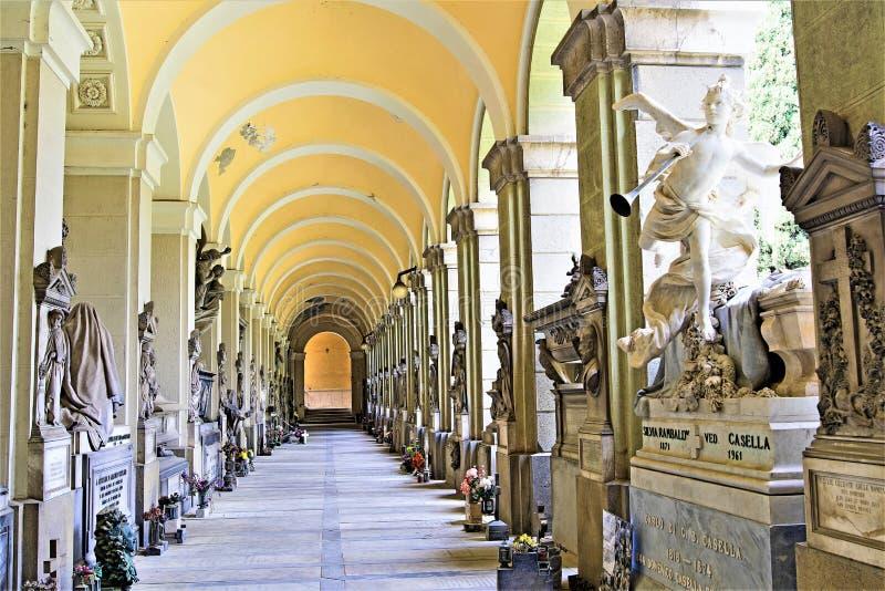 Νεκροταφείο 5, Γένοβα, Λιγυρία, Ιταλία της Γένοβας στοκ εικόνα