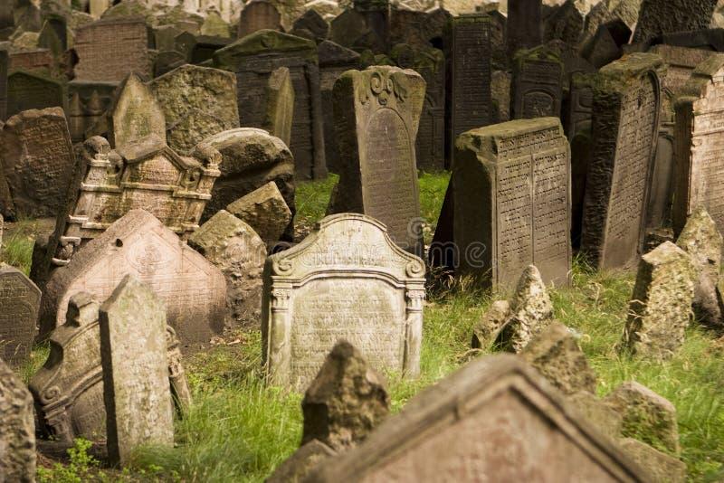 νεκροταφείο εβραϊκή παλαιά Πράγα στοκ εικόνες