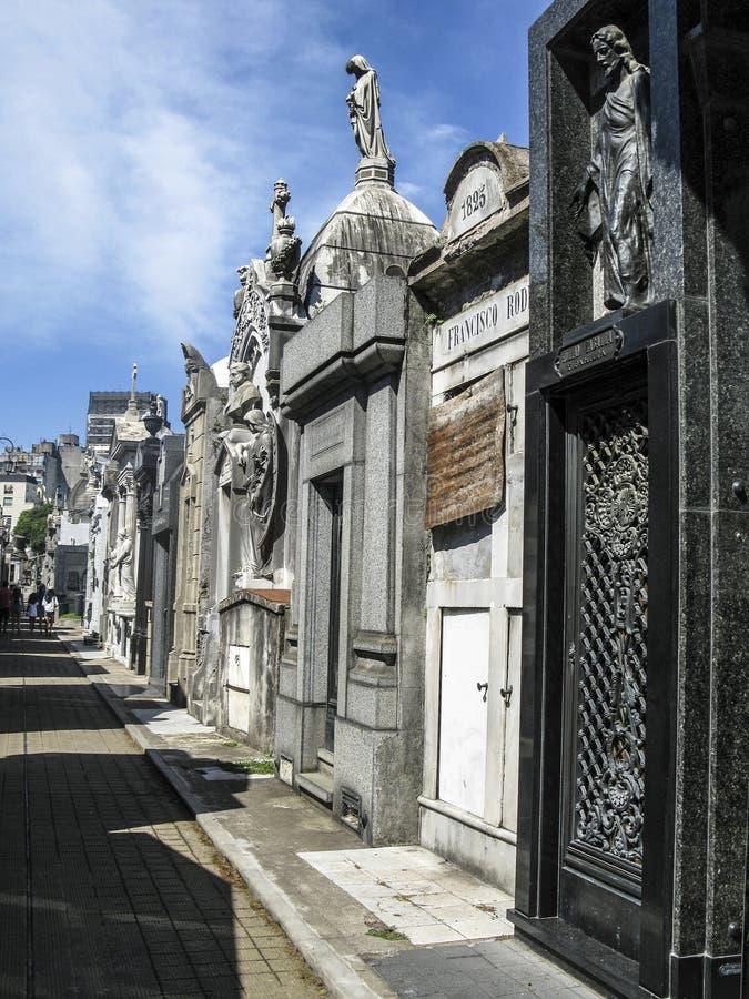 Νεκροταφείο Λα Recoleta, Μπουένος Άιρες - Αργεντινή στοκ εικόνα με δικαίωμα ελεύθερης χρήσης