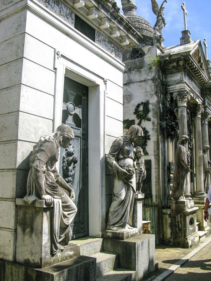 Νεκροταφείο Λα Recoleta, Μπουένος Άιρες - Αργεντινή στοκ φωτογραφίες με δικαίωμα ελεύθερης χρήσης