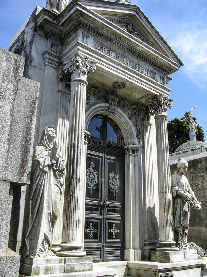 Νεκροταφείο Λα Recoleta, Μπουένος Άιρες - Αργεντινή στοκ φωτογραφία με δικαίωμα ελεύθερης χρήσης
