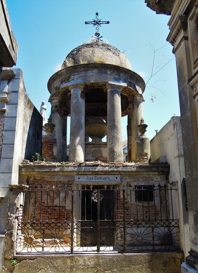 Νεκροταφείο Λα Recoleta - παλαιό μαυσωλείο απόμακρων πιθανοτήτων στοκ φωτογραφίες με δικαίωμα ελεύθερης χρήσης