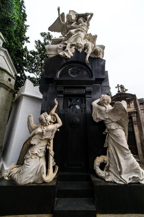 Νεκροταφείο Λα Recoleta aires buenos της Αργεντινής στοκ εικόνες