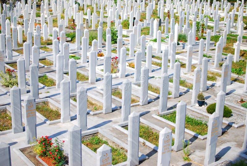 νεκροταφείο μουσουλμανικό Σαράγεβο της Βοσνίας στοκ φωτογραφία με δικαίωμα ελεύθερης χρήσης