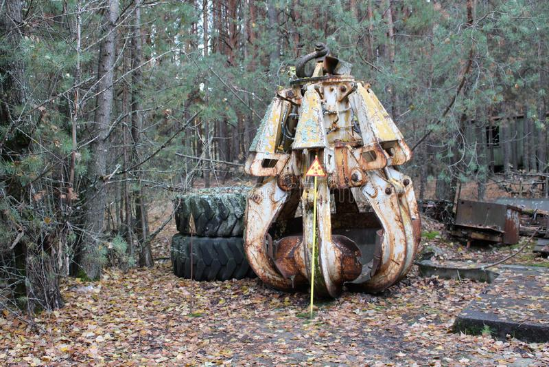 Νεκροταφείο οχημάτων του Τσέρνομπιλ Buryakovka Αποκλειστικός συλλάβετε πρώην σοβιετικού Lunokhod Ατύχημα του Τσέρνομπιλ Τσέρνομπι στοκ εικόνες