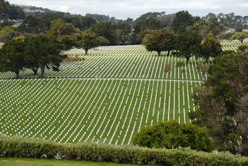 νεκροταφείο στρατιωτικό στοκ φωτογραφία