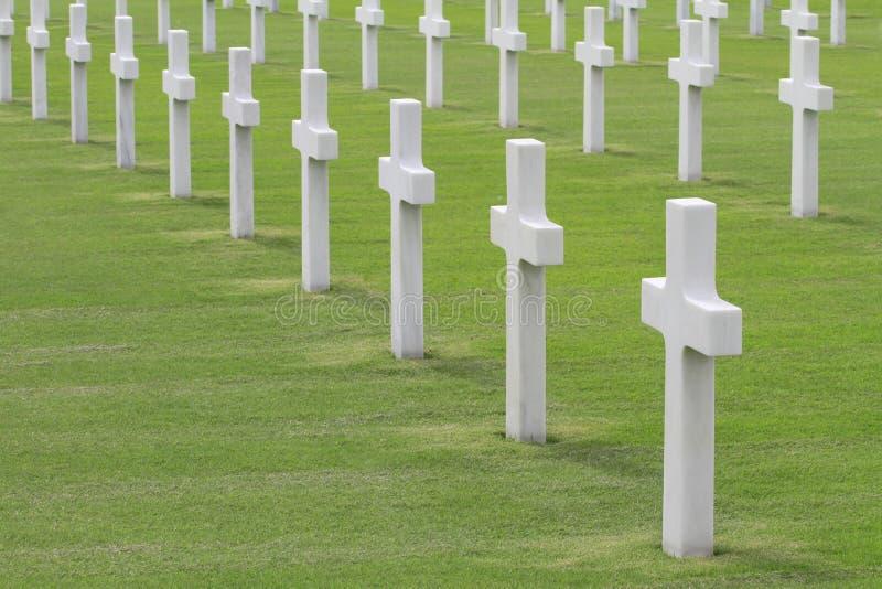 νεκροταφείο στρατιωτι&kappa στοκ φωτογραφία