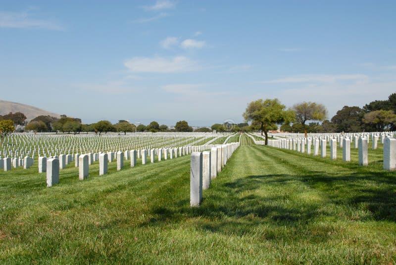 νεκροταφείο στρατιωτι&kappa στοκ εικόνες