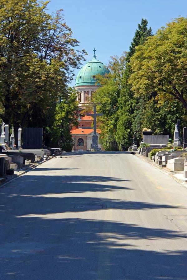 Νεκροταφείο Mirogoj, Ζάγκρεμπ στοκ φωτογραφία