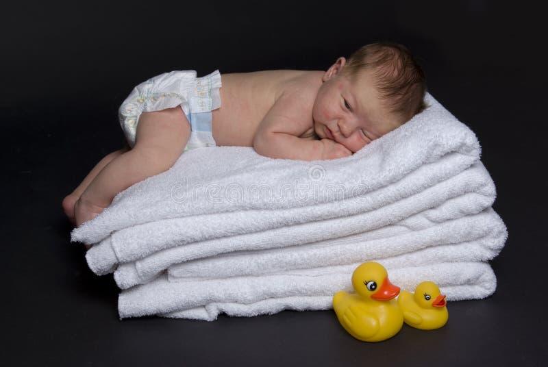νεογέννητες κορυφαίες πετσέτες μωρών στοκ φωτογραφίες με δικαίωμα ελεύθερης χρήσης