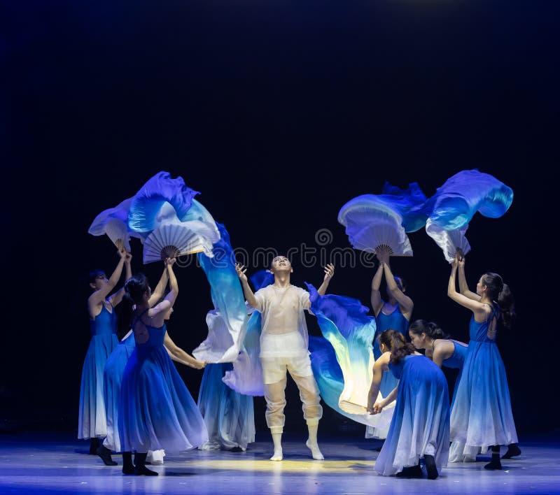 νεογέννητος-μπλε χορός ` κύμα-Huang Mingliang ` s θάλασσας κανένα καταφύγιο ` στοκ φωτογραφία
