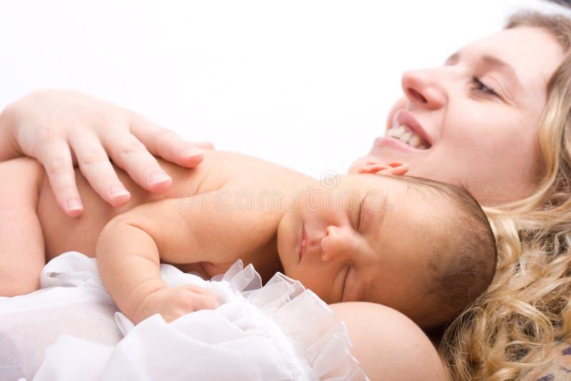 νεογέννητος ύπνος παιδιών στοκ φωτογραφία με δικαίωμα ελεύθερης χρήσης