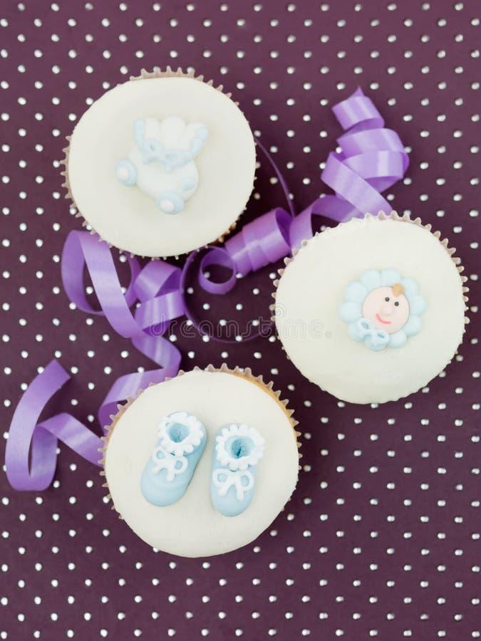 Νεογέννητος muffin εορτασμός απεικόνιση αποθεμάτων