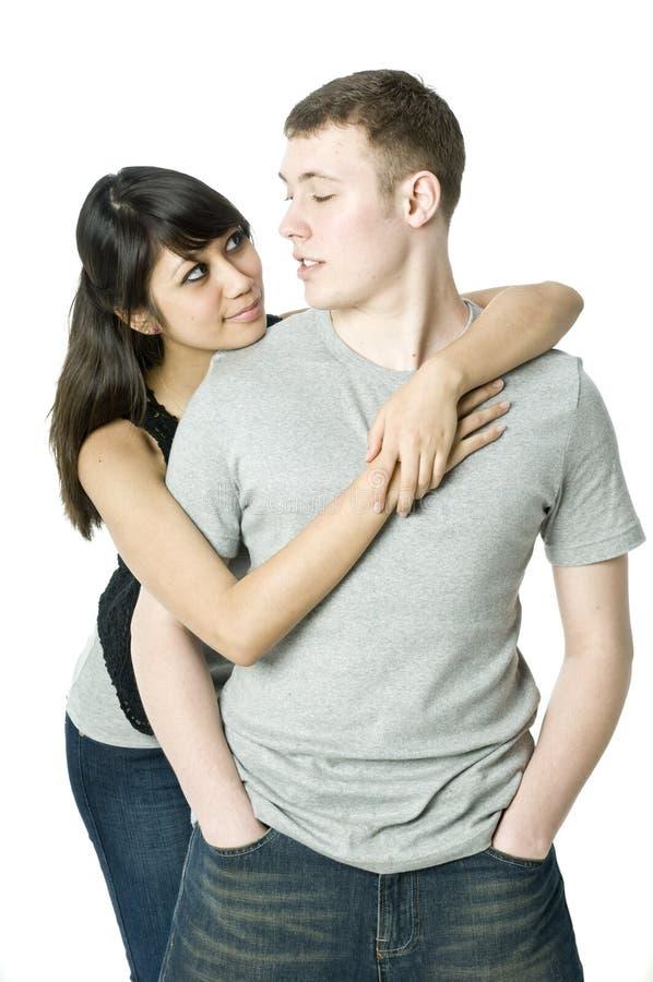 νεολαίες αγάπης ζευγών μαζί στοκ εικόνες με δικαίωμα ελεύθερης χρήσης