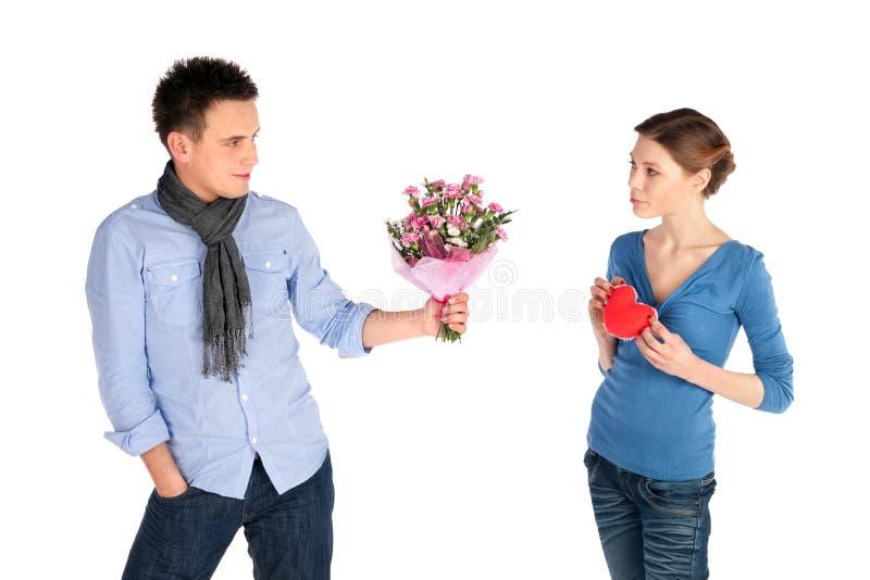 νεολαίες ανθρώπων αγάπης στοκ εικόνες