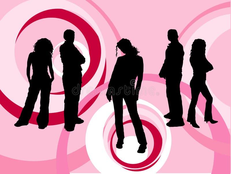 νεολαίες ανθρώπων διανυσματική απεικόνιση