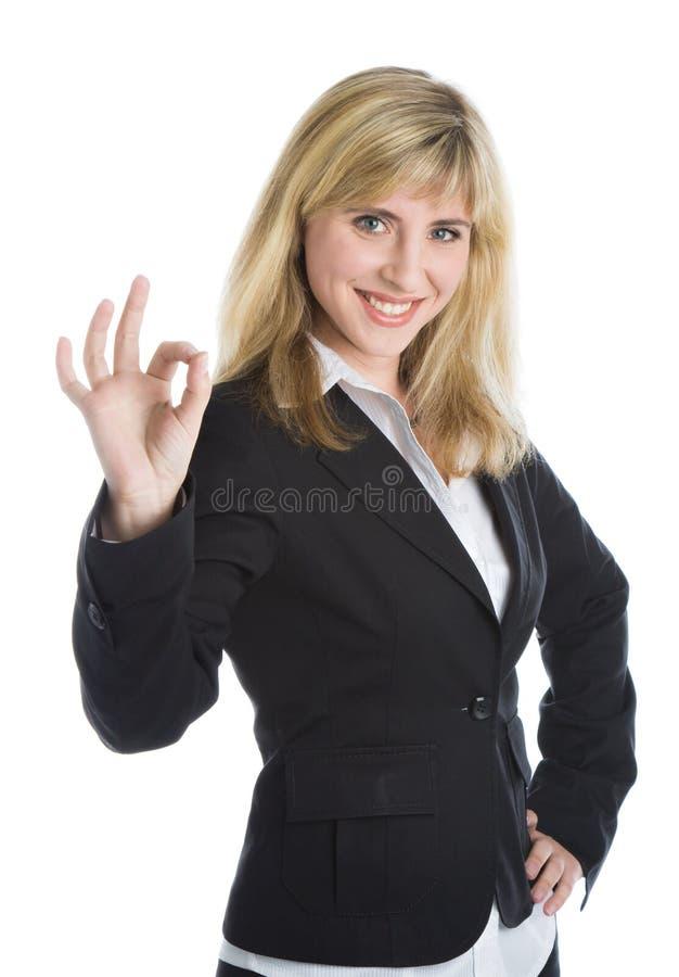 νεολαίες γυναικών επιχειρησιακών χαμογελώντας κοστουμιών στοκ εικόνες