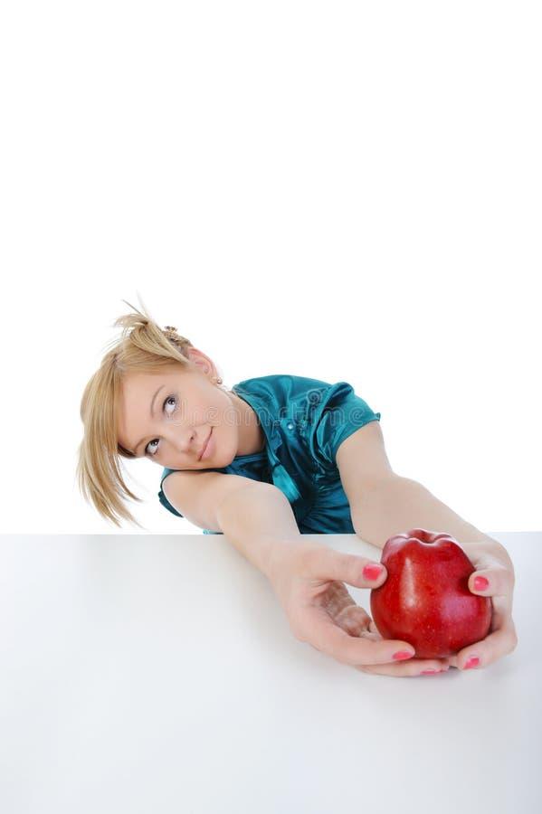 νεολαίες γυναικών μήλων στοκ φωτογραφία