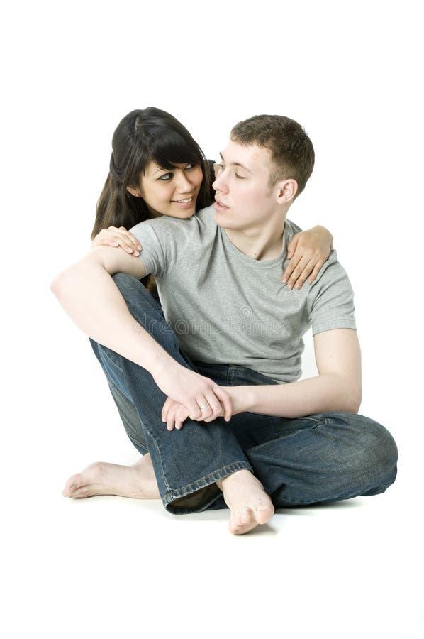 νεολαίες ζευγών μαζί στοκ φωτογραφία με δικαίωμα ελεύθερης χρήσης