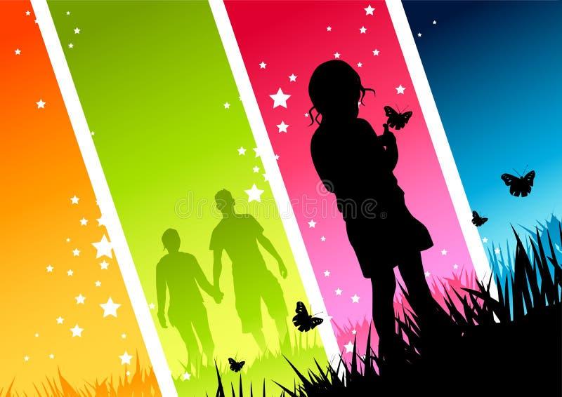 νεολαίες ζευγών παιδιών ελεύθερη απεικόνιση δικαιώματος