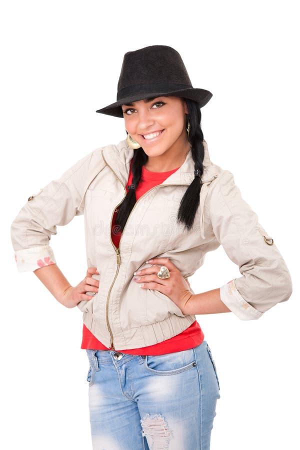 νεολαίες καπέλων κοριτ&si στοκ εικόνα