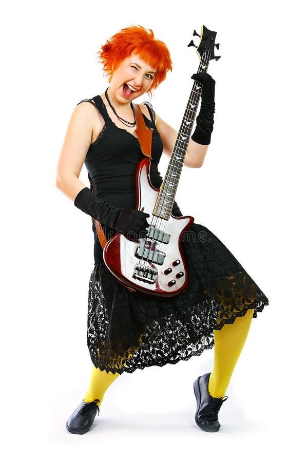 νεολαίες κιθάρων κοριτ&sig στοκ εικόνα με δικαίωμα ελεύθερης χρήσης
