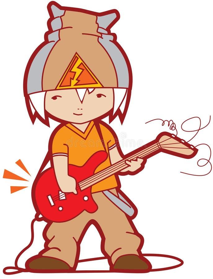 νεολαίες κιθαριστών διανυσματική απεικόνιση