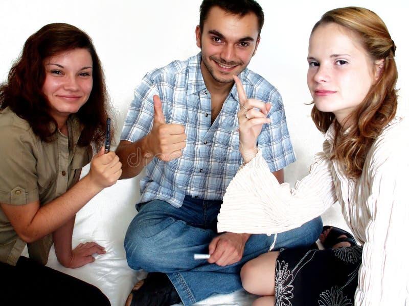 νεολαίες ομάδων στοκ εικόνα