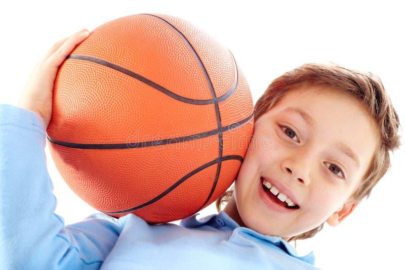 νεολαίες παίχτης μπάσκετ στοκ εικόνα