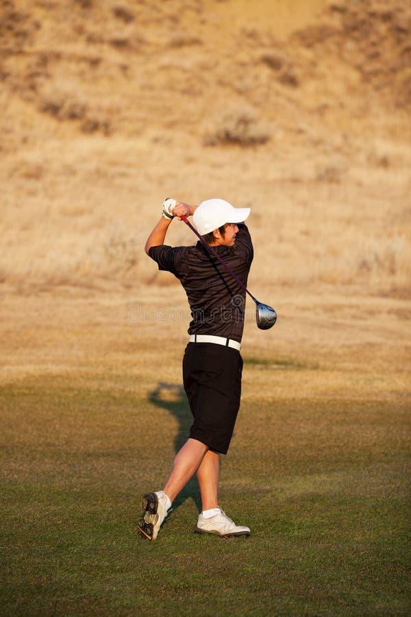 νεολαίες παικτών γκολφ στοκ φωτογραφία με δικαίωμα ελεύθερης χρήσης