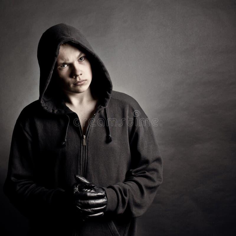 νεολαίες πορτρέτου ατόμων κουκουλών στοκ φωτογραφία με δικαίωμα ελεύθερης χρήσης