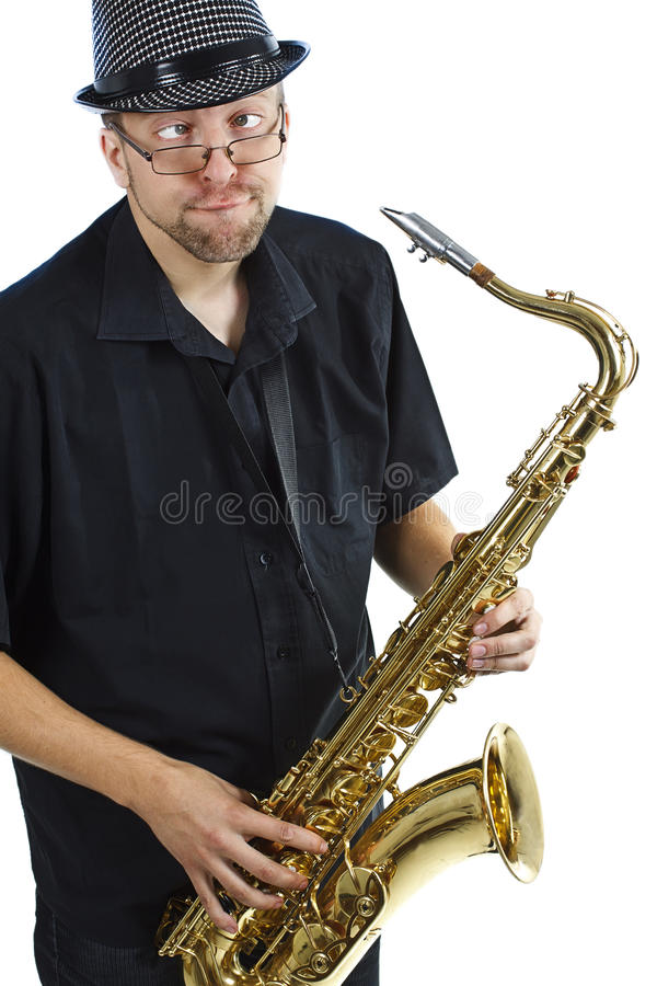 νεολαίες saxophone ατόμων στοκ εικόνες με δικαίωμα ελεύθερης χρήσης